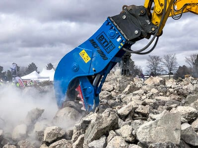 BTI MCP1000 Hydraulic Pulverizer for Demolition
